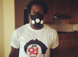 PHOTO: Patrick Beverly channels his inner Bane