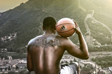 PHOTO: Wall-ception! It's John Wall at the Great Wall with a Great Wall tattoo