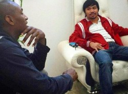 PHOTO: Pacquiao and World Peace, hashing out a deal?