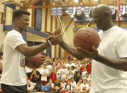 LOOK: Michael Jordan's latest Flight School feat – taking on Jimmy Butler
