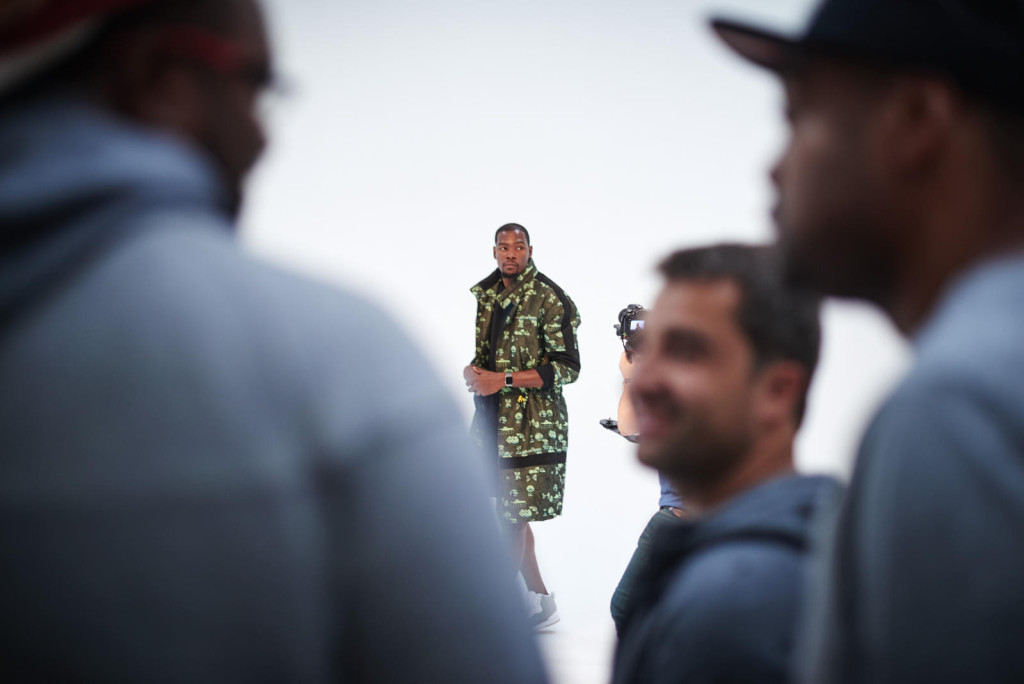 Before departing France, Durant completes a photo shoot with Surface Magazine.