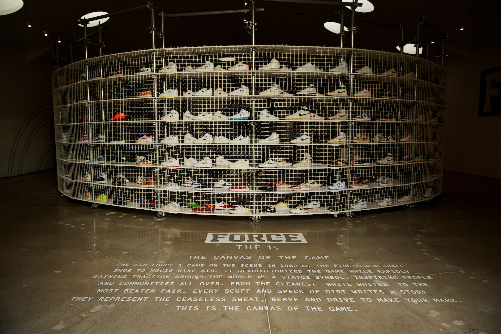 "LOOK: Nike Air Force 1 ""The 1s"" display in Hollywood"