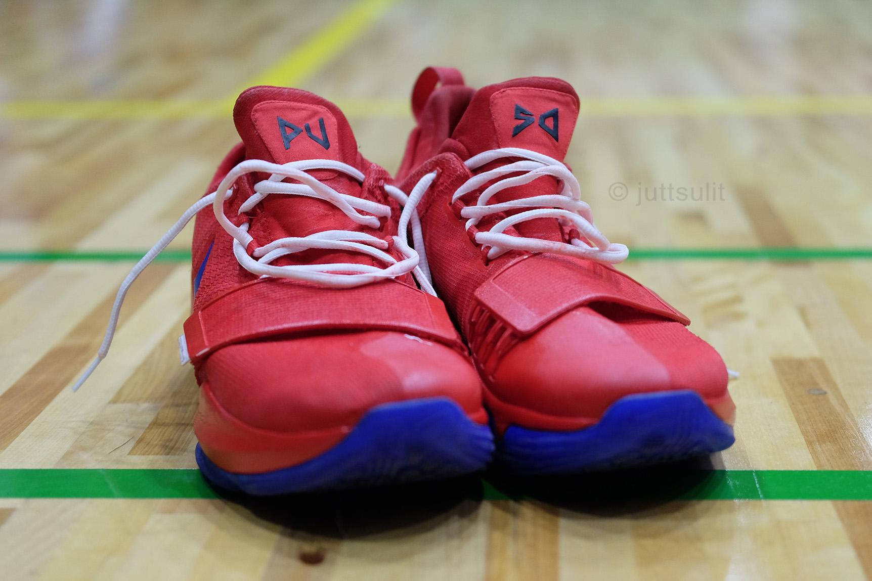 LOOK: Kiefer Ravena has his Nike PG1 customized in Gilas colorway