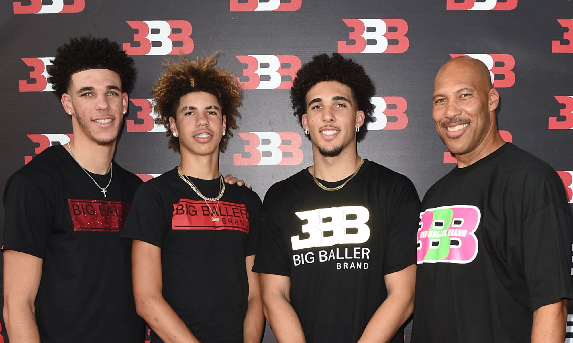 Fans line-up in New York for the Big Baller Brand Pop-up Shop