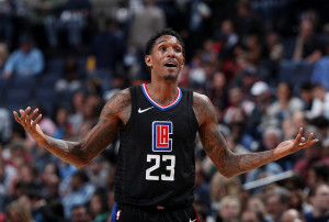 MEMPHIS, TN - JANUARY 26: Lou Williams #23 of the LA Clippers reacts during the game against the Memphis Grizzlies on January 26, 2018 at FedExForum in Memphis, Tennessee. NOTE TO USER: User expressly acknowledges and agrees that, by downloading and or using this photograph, User is consenting to the terms and conditions of the Getty Images License Agreement. Mandatory Copyright Notice: Copyright 2018 NBAE (Photo by Joe Murphy/NBAE via Getty Images)
