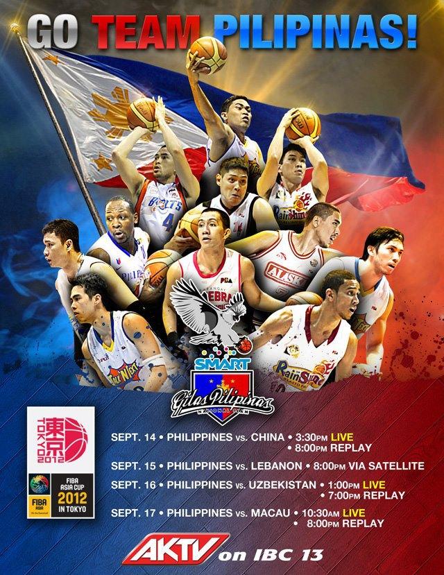 Team Pilipinas FIBA-Asia Cup Schedule
