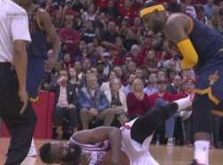 James Harden gets one-game suspension for kicking LeBron James where the sun don't shine