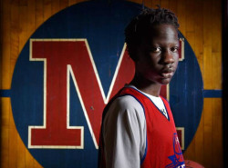 LOOK: Manute Bol's son is quickly becoming an intriguing college prospect