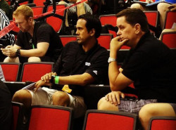 PHOTO: Erik Spoelstra hangs out with Tim Cone