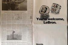 Miami radio show tried to troll LeBron James with ad in Cleveland newspaper