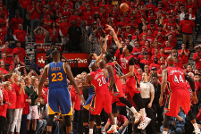 VIDEOS: Curry hits amazing triple to send game into OT for 3-0 Warriors lead