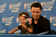 LOOK: Stephen Curry's daughter Riley makes another post-game appearance