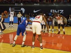 LOOK: Dikembe Mutombo, Hakeem Olajuwon hit the court for NBA Africa game