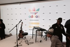 PHOTOS: Pharrell surprises kids at design-your-own adidas Superstars event