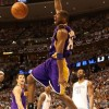 Kobe Bryant monster dunk picture with face expression against Denver