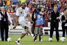 Kobe Bryant displays Soccer skills in Brazil