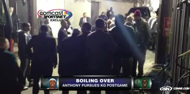 Carmelo Anthony-Kevin Garnett Feud Reaches MSG Parking Lot