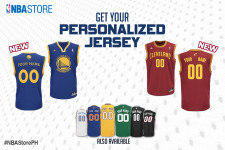 Personalized jerseys now available at the NBA Store PH for select teams!