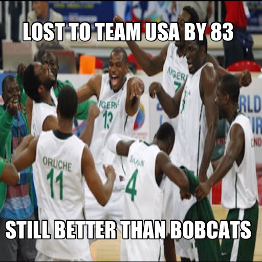 Nigeria loses by 83. Still not as bad as Charlotte ...