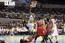 Wendell McKines, Rain or Shine tie series with San Miguel Beer, spoil Lassiter's 10 triples