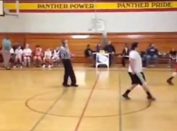 VIDEO: Referee officiates game while chatting on his cellphone