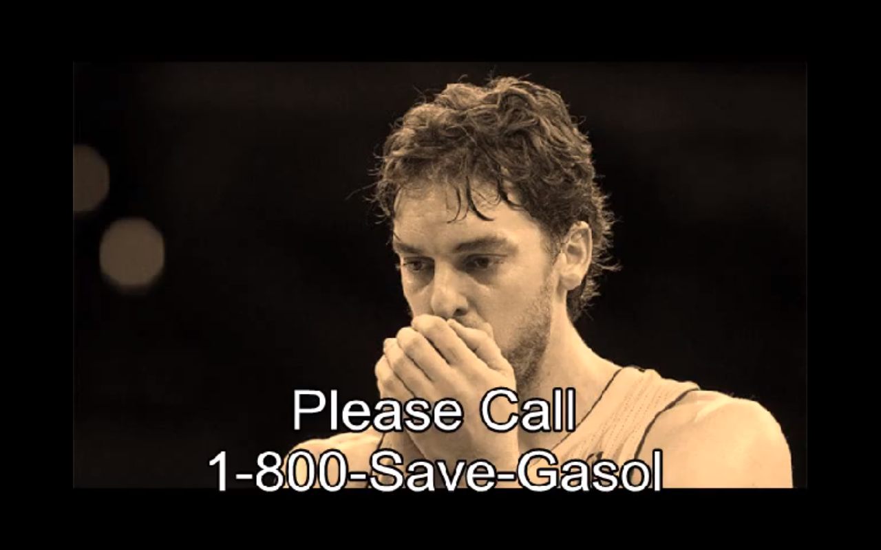 VIDEO: Let's Do the Right Thing and Save Pau Gasol