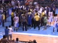 Fight mars Talk 'N Text's game four win over Rain or Shine, three players thrown out