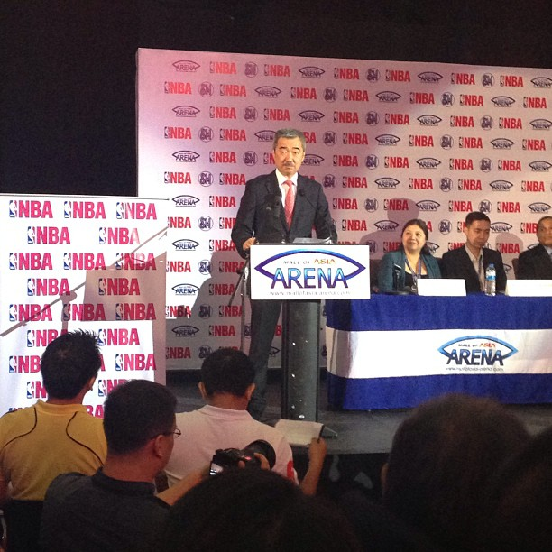 The NBA is coming to Manila.