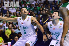 DLSU draws strength from the post to thwart theNU Bulldogs