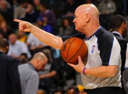VIDEO: Joey Crawford does a little dance to stop a free throw