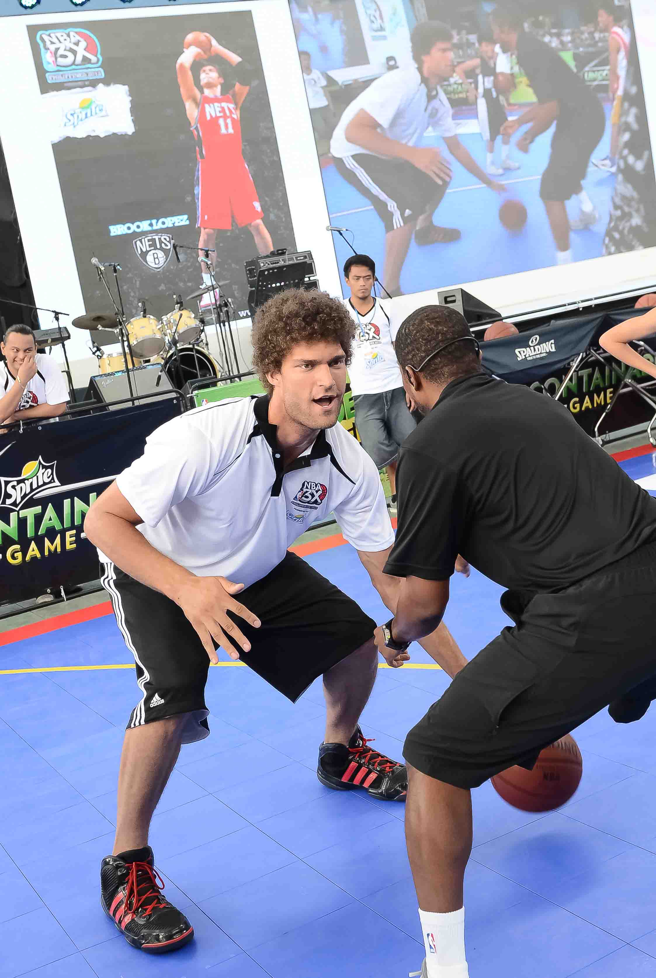 Brook Lopez and his poodle-fuzz rock NBA 3X festivities (Day 2)