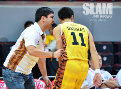 UST's Reggie Basibas made sure there was no upset at the hands of UP