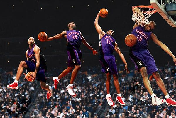 В баскетболе данк